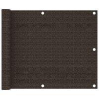 vidaXL Parvekkeen suoja ruskea 75x300 cm HDPE