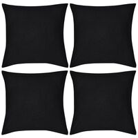 Musta Tyynynpäällinen 4 kpl Puuvilla 50 x 50 cm
