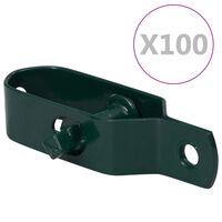 vidaXL Aitavaijerin kiristimet 100 kpl 100 mm teräs vihreä