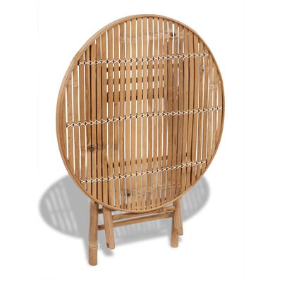 vidaXL 5-osainen Kokoontaitettava ulkoruokailuryhmä bambu
