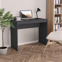 vidaXL Työpöytä harmaa 90x40x72 cm lastulevy