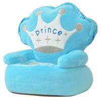 vidaXL Lasten pehmotuoli prinssi Sininen