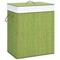 vidaXL Bambu pyykkikori vihreä 83 l