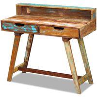 vidaXL Kirjoituspöytä kierrätetty massiivipuu