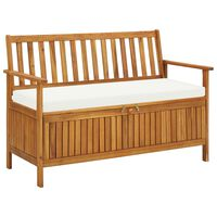 vidaXL Garden Storage Bench Solid Acacia Wood 120x63x84 cm