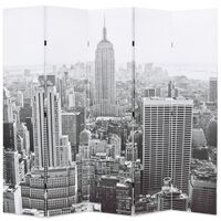 vidaXL Taitettava tilanjakaja 200x170 cm New Yorkin päivämaisema