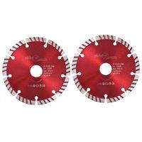 vidaXL Timanttikatkaisulaikat 2 kpl turbo teräs 125 mm