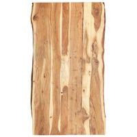 vidaXL Pöytälevy täysi akaasiapuu 120x(50-60)x3,8 cm