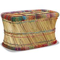vidaXL Sohvapöytä bambu chindi-yksityiskohdilla monivärinen