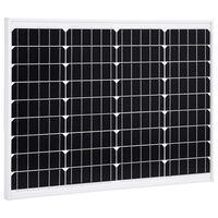 vidaXL Aurinkopaneeli 50 W yksikiteinen alumiini ja turvalasi
