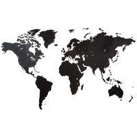 MiMi Innovations Puinen maailmankarttakoriste Giant musta 280x170 cm