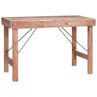 vidaXL Ruokapöytä 120x60x80 cm täysi kierrätetty puu