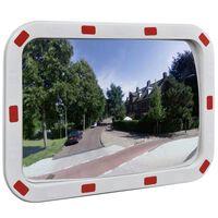 Convex Liikennepeili Heijastimilla Suoraikaide 40 x 60 cm