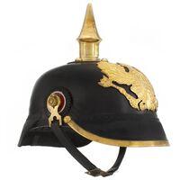 vidaXL Saksan preussilainen kypärä antiikki kopio musta teräs