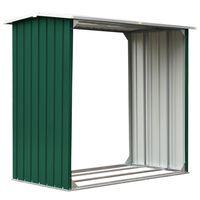 vidaXL Puuvaja galvanoitu teräs 172x91x154 cm vihreä