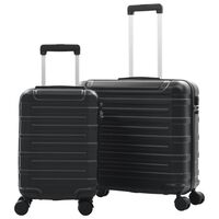 vidaXL Kovapintainen matkalaukkusetti 2 kpl musta ABS