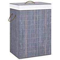vidaXL Bambu pyykkikori harmaa