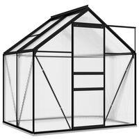vidaXL Kasvihuone antrasiitti alumiini 2,47 m²