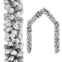 vidaXL Jouluseppele lumihuurteella vihreä 20 m PVC