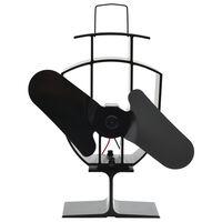 vidaXL Lämmöllä toimiva hellatuuletin 2 lapaa musta