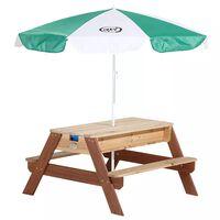 AXI Hiekka- ja vesileikkipöytä/piknikpöytä aurinkovarjolla