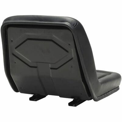 vidaXL Traktorin istuin musta