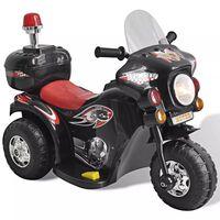 Akkukäyttöinen Lelu Moottoripyörä  (Musta)