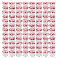 vidaXL Lasiset hillopurkit valkopunaisilla kansilla 96 kpl 110 ml