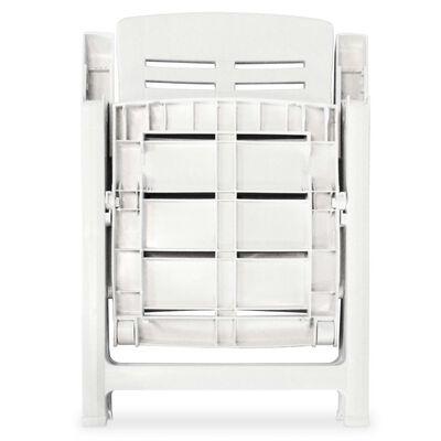 vidaXL 5-osainen Ulkoruokaryhmä muovi valkoinen