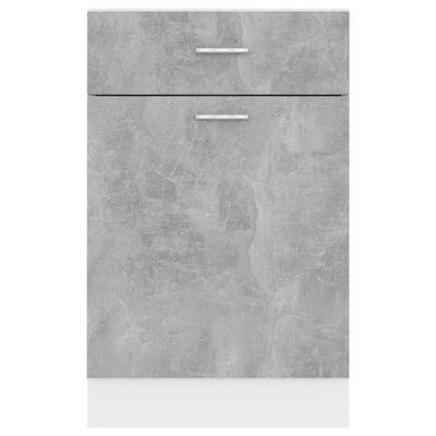 vidaXL Alalipastokaappi betoninharmaa 50x46x81,5 cm lastulevy, Concretegrey