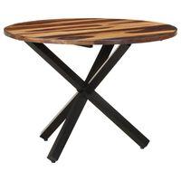 vidaXL Ruokapöytä 100x100x75 cm akaasiapuu seesamviimeistelyllä