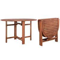 vidaXL Puutarhapöytä 120x70x74 cm täysi akaasiapuu