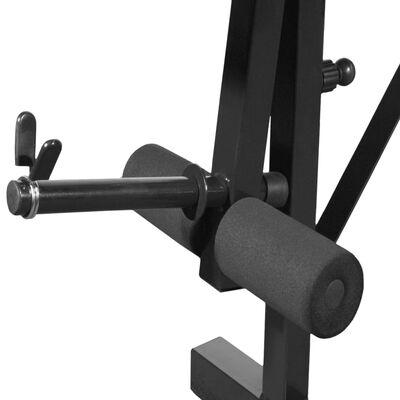 vidaXL Kuntopenkki painotangolla + levy- ja käsipainosarja 30,5 kg