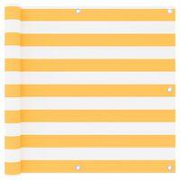 vidaXL Parvekkeen suoja valkoinen ja keltainen 90x500 cm Oxford kangas