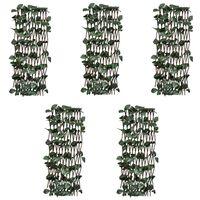 vidaXL Pajusäleikköaidat 5 kpl keinotekoisilla lehdillä 180x60 cm
