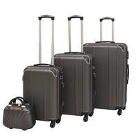 vidaXL Neljäosainen kovapintainen matkalaukkusarja Antrasiitti