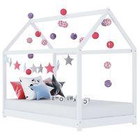 vidaXL Lasten sängynrunko valkoinen täysi mänty 90x200 cm