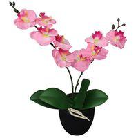 vidaXL Tekokukka ruukulla orkidea 30 cm vaaleanpunainen