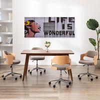 vidaXL Kanvaasitaulusarja Life Is Wonderful monivärinen 200 x 80 cm