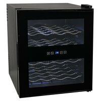 vidaXL Viinijääkaappi 48 L 16 Pullolle LCD Näyttö