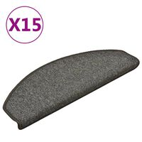 vidaXL Porrasmatot 15 kpl tummanharmaa 65x24x4 cm