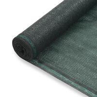vidaXL Tenniskentän suojaverkko HDPE 1,6x50 m vihreä