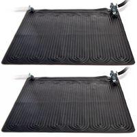 Intex Aurinkoenergia lämmitysmatto 2 kpl PVC 1,2x1,2 m Musta 28685