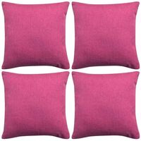 vidaXL Tyynynpäällinen Pellavatyylinen Pinkki 4kpl 50 x 50 cm