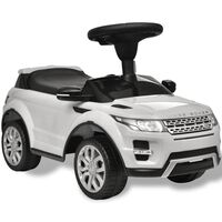 Land Rover 348 Lasten Istuttava Auto Musiikilla Valkoinen