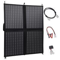 vidaXL Kokoontaitettava aurinkopaneelilaturi 80 W 12 V