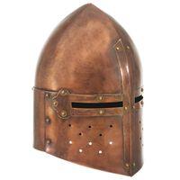 vidaXL Keskiaikaisen ritarin kypärä antiikki kopio kupari teräs