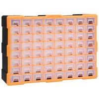 vidaXL Monilaatikko järjestelijä 64 laatikolla 52x16x37,5 cm