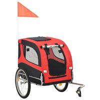 vidaXL Koirankuljetuskärry polkupyörään punainen ja musta