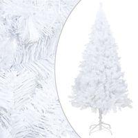 vidaXL Tekojoulukuusi paksuilla oksilla valkoinen 210 cm PVC